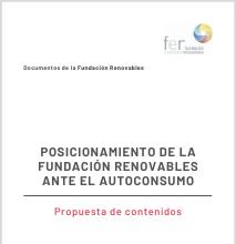 Posicionamiento De La Fundación Renovables Ante El Autoconsumo