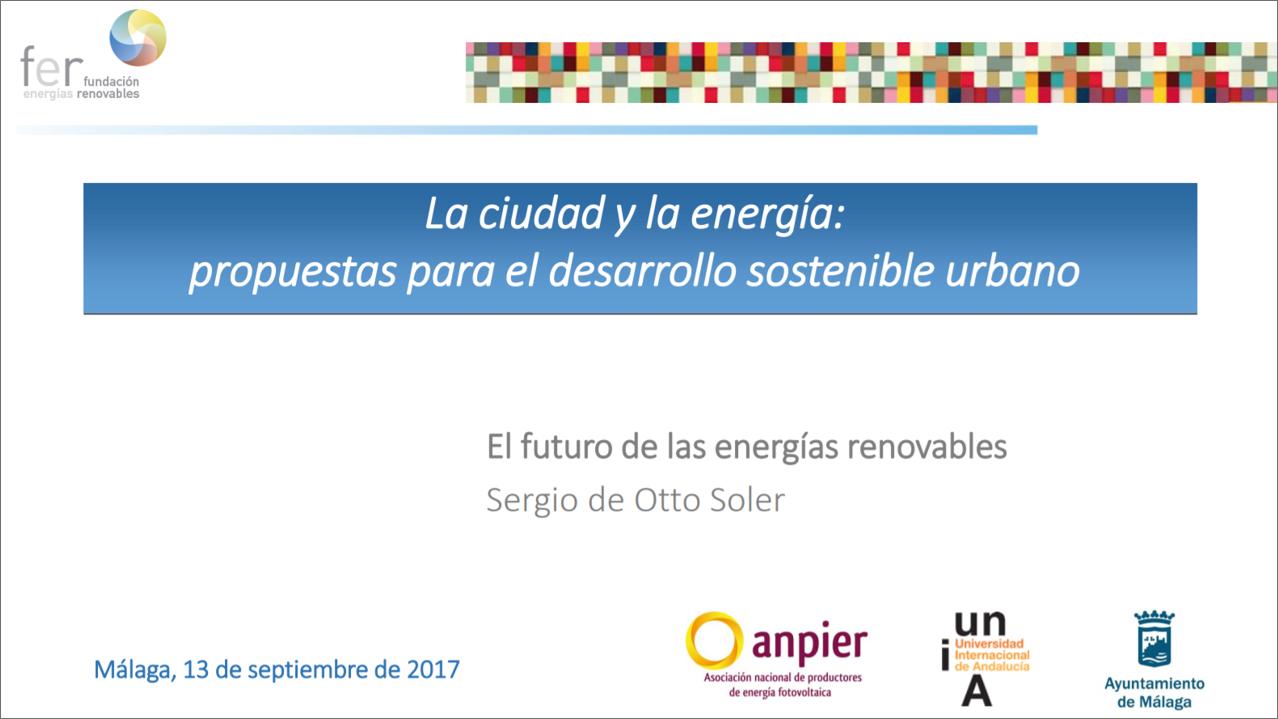 Curso 2017 «Ciudad y Energía»: Sergio de Otto Soler