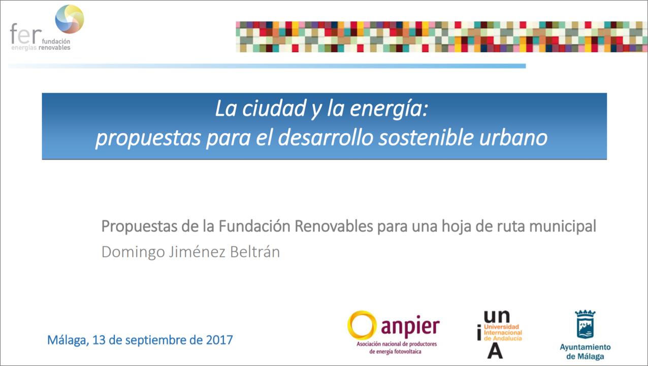 Curso 2017 «Ciudad y Energía»: Domingo Jiménez Beltrán