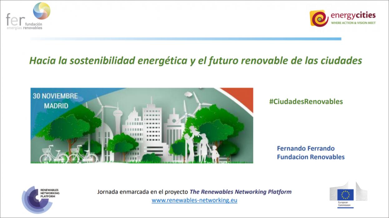 «Hacia la sostenibilidad energética y el futuro renovable de las ciudades» – Fernando Ferrando