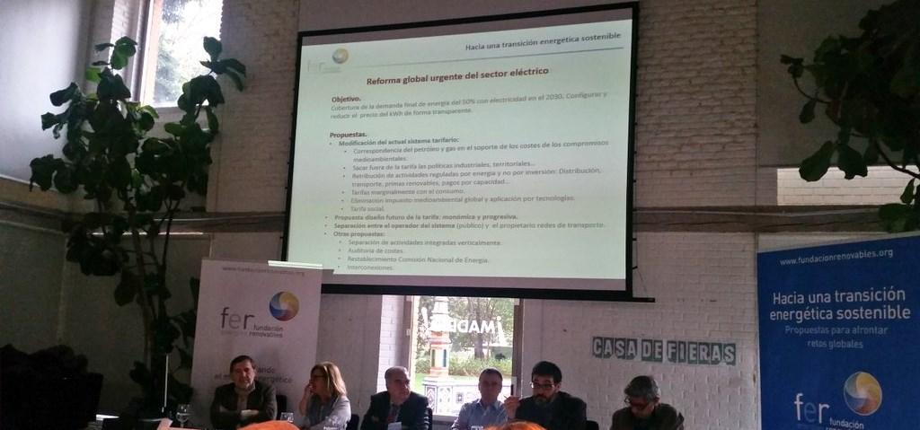 Presentación Propuestas Política Energética 2018. «Hacia una Transición Energética Sostenible. Propuestas para afrontar los retos globales». Madrid. 2018