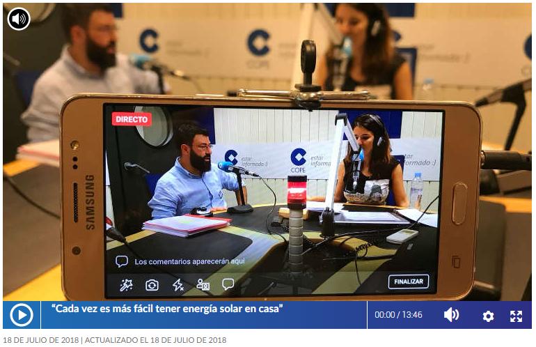 Fernando Hernández Habla En La COPE Sobre Autoconsumo Y Eficiencia Energética