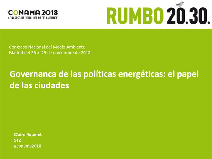 Governanca de las políticas energéticas: el papel de las ciudades