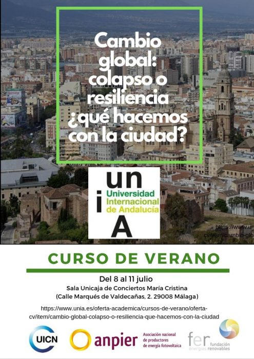 """""""Cambio global: colapso o resiliencia ¿qué hacemos con la ciudad?"""""""