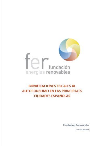 Bonificaciones fiscales al autoconsumo en las principales ciudades españolas 2019