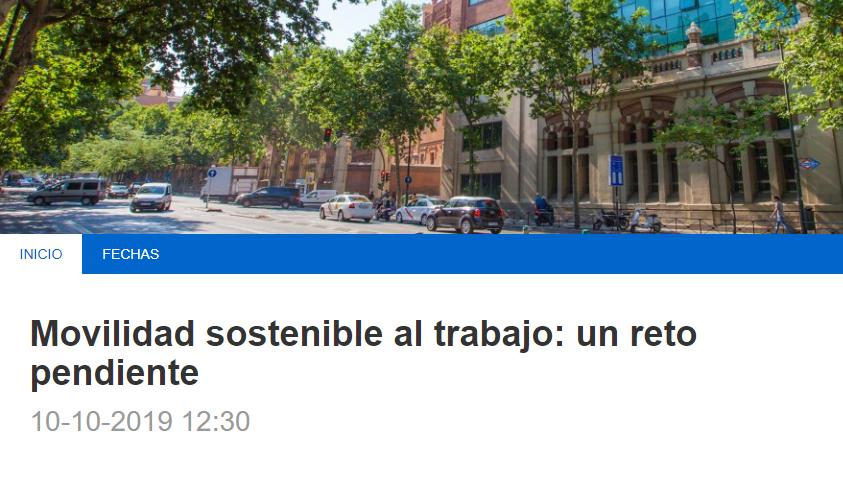 Presentación libro: «Movilidad sostenible al trabajo: un reto pendiente»