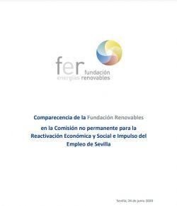Comparecencia de la Fundación Renovablesen la Comisión no permanente para la Reactivación Económica y Social e Impulso del Empleo de Sevilla