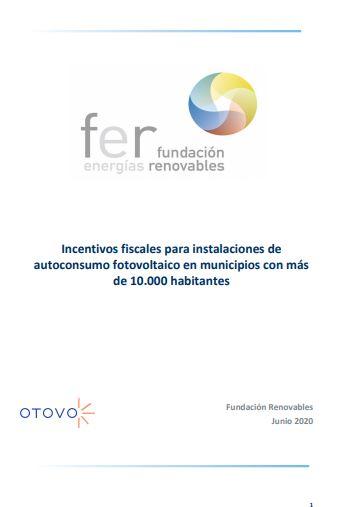 Incentivos fiscales para instalaciones de autoconsumo fotovoltaico en municipios con más de 10.000 habitantes