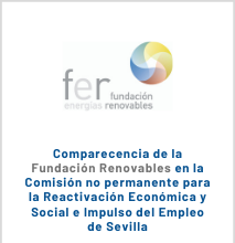 Comparecencia De La Fundación Renovables En La Comisión No Permanente Para La Reactivación Económica Y Social E Impulso Del Empleo De Sevilla