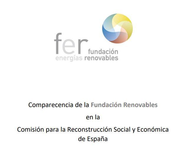 Comparecencia en la Comisión para la Reconstrucción Social y Económica de España