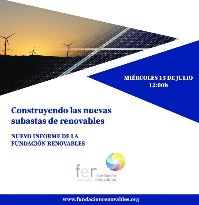 """Presentación del nuevo informe de la Fundación Renovables """"Construyendo las nuevas subastas de renovables"""""""