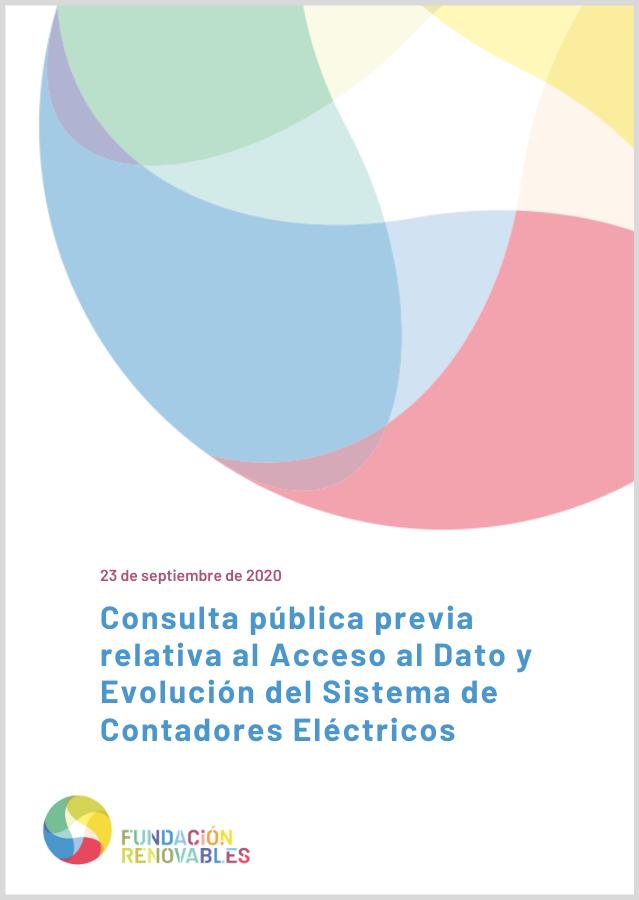 Alegaciones Fundación Renovables al Acceso al Dato y Evolución del Sistema de Contadores Eléctricos
