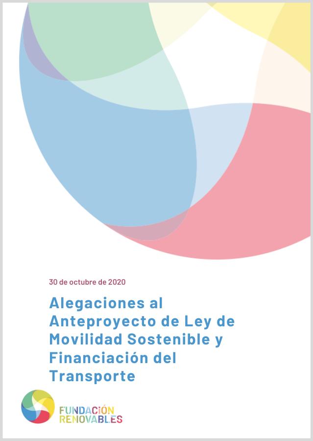 Aportaciones a la Consulta Pública del Anteproyecto de Ley de Movilidad Sostenible y Fiscalidad al Transporte