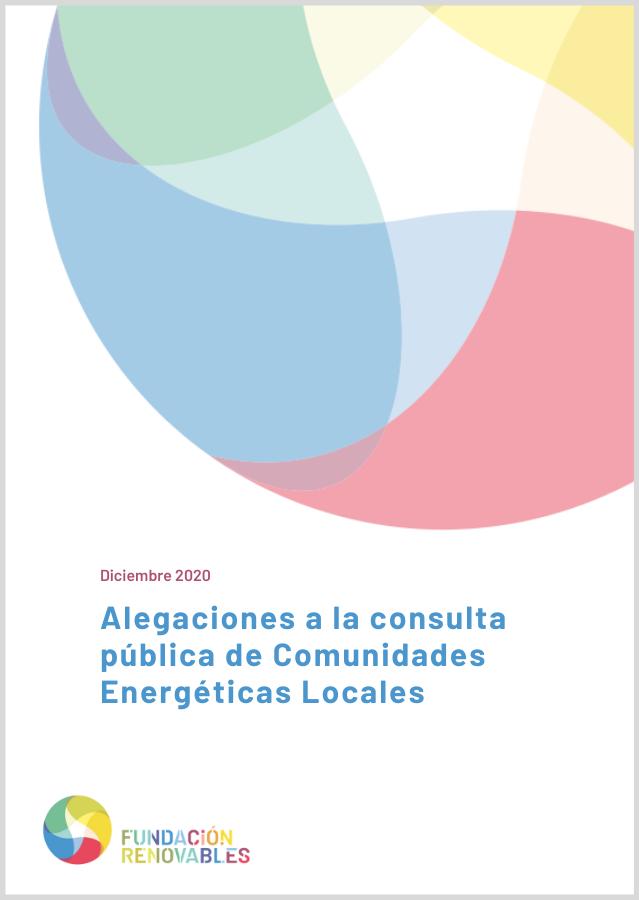 Aportaciones a la Consulta Pública de Comunidades Energéticas Locales