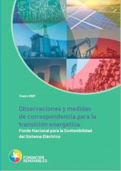 Observaciones y medidas de correspondencia para la transición energética: Fondo Nacional para la Sostenibilidad del Sistema Eléctrico
