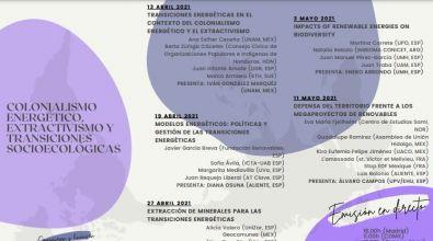 """Curso """"Colonialismo energético, extractivismo y transiciones socioecológicas"""""""