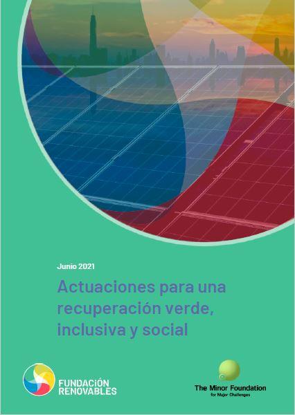 Actuaciones para una recuperación verde, inclusiva y social