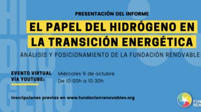 Presentación del informe: «El papel del hidrógeno en la transición energética»